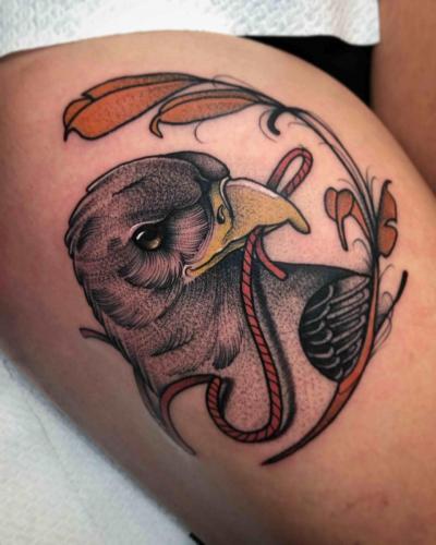 Neotraditional-Color-Tattoo-Eagle-Bodine-Ester-Abramov-Amsterdam