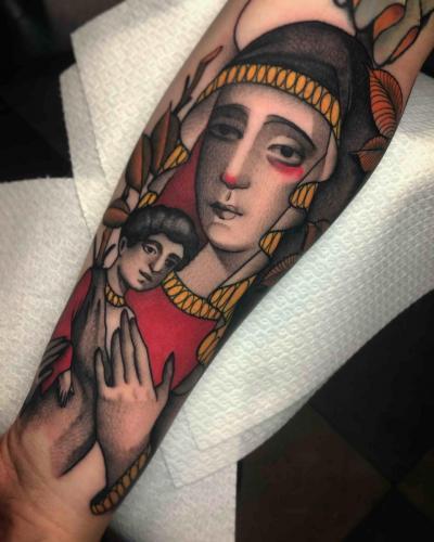 Neotraditional-Color-Tattoo-Mary-Bodine-Ester-Abramov-Amsterdam