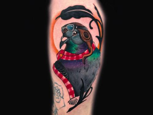 Neotraditional-pigeon-amsterdam-tattoo-shop-bodine-ester