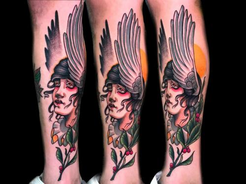 Angel-tattoo-religious-legsleeve
