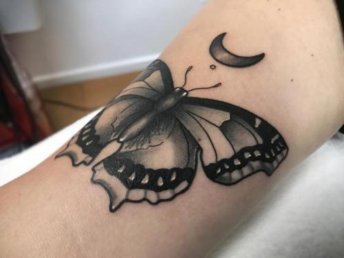 Butterfly-tattoo-with-moon