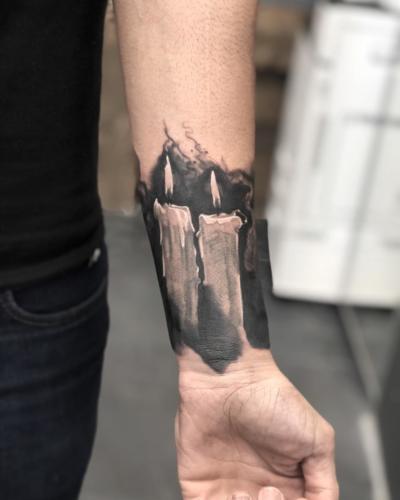 Candle-tattoo-amsterdam-tattooshop-blackandgray