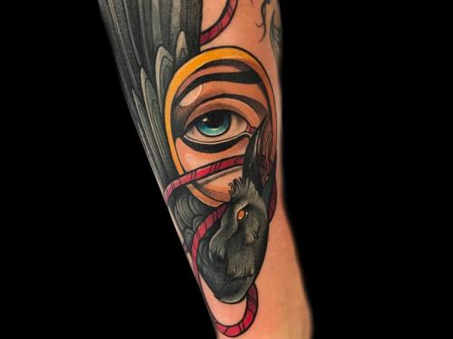 Neotraditional-raven-tattoo-sleevetattoo